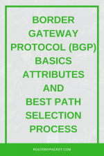 Border Gateway Protocol (BGP) Basics, Attributes and Best Path Selection Process