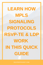 MPLS Label Signaling Protocols: RSVP and LDP
