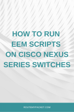 High CPU EEM script on Cisco Nexus switches