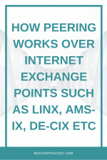 Peering: Why use an IXP such as LINX or AMS IX
