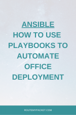 Ansible: Use Playbook to deploy the next office